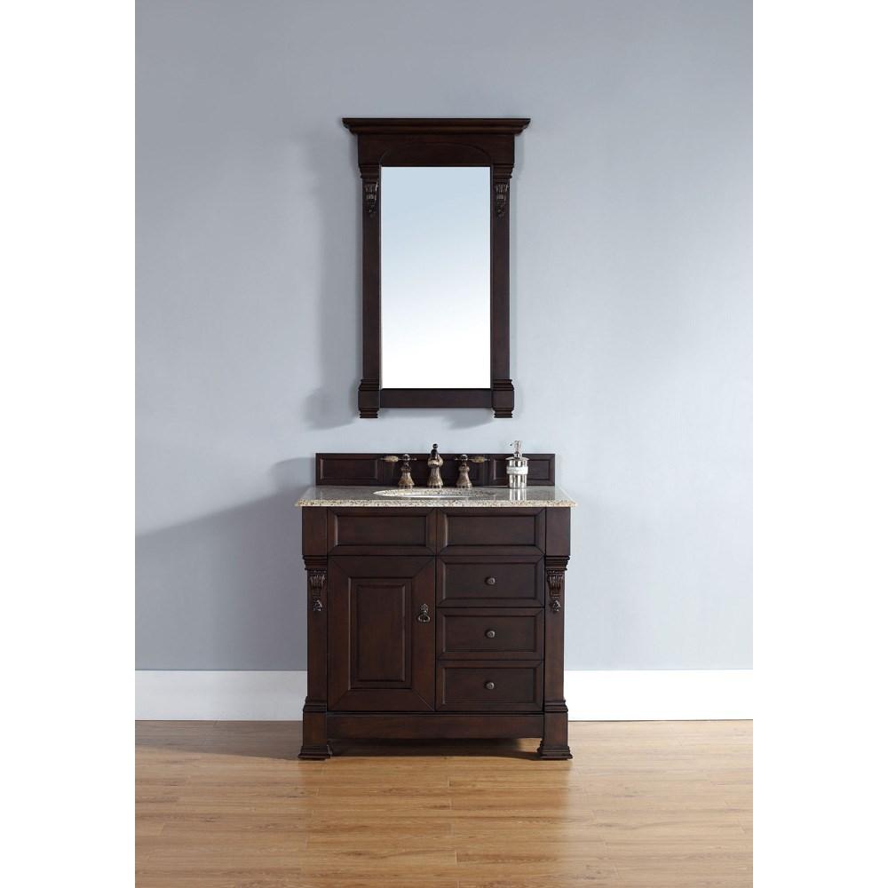 """James Martin 35"""" Brookfield Single Vanity with drawers - Burnished Mahoganynohtin Sale $840.00 SKU: 147-114-5566 :"""