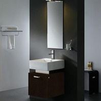 Vigo 18-inch Single Bathroom Vanity with Mirror - Wenge VG09011104K