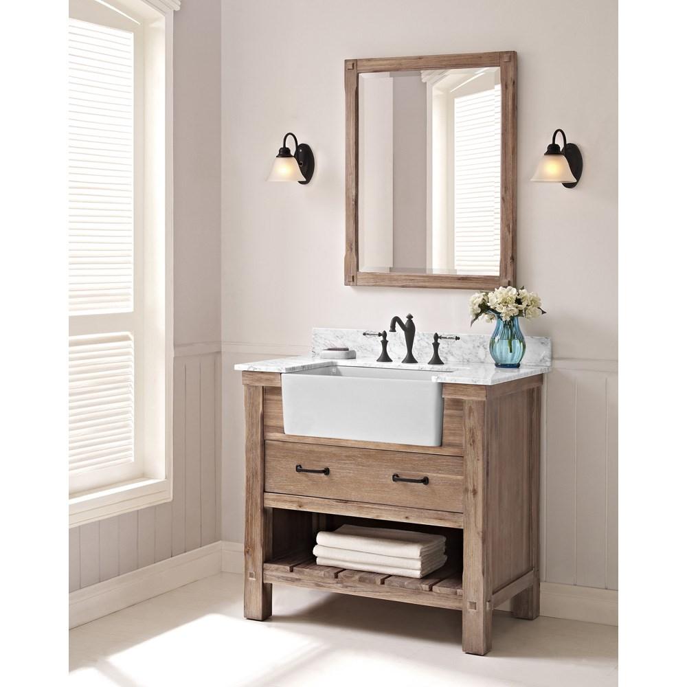 Fairmont Designs Napa 36 Farmhouse Vanity Sonoma Sand Free Shipping Modern Bathroom