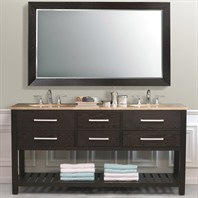 "Virtu USA Clementina 72"" Double Sink Bathroom Vanity - Dark Espresso LD-2140"