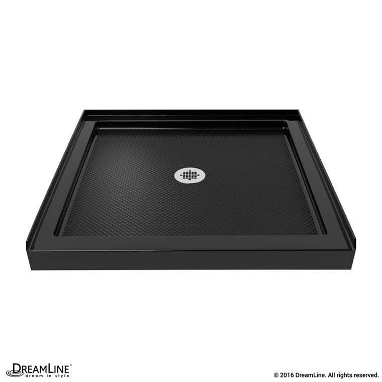 "Bath Authority DreamLine SlimLine Single Threshold Shower Base (32"" by 32"") - Black DLT-1132320-88"
