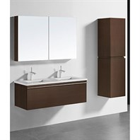 "Madeli Venasca 48"" Double Bathroom Vanity for Quartzstone Top - Walnut B990-48D-002-WA-QUARTZ"