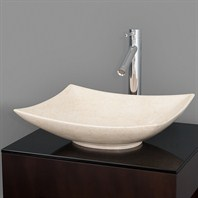 Arista Vessel Sink by Wyndham Collection - Ivory Marble WC-GS005