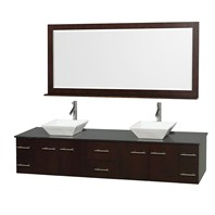 "Bianca 80"" Wall-Mounted Double Bathroom Vanity - Espresso WHE007-80-ESP"