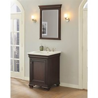 "Fairmont Designs Providence 24"" Vanity for Integrated Top - Aged Chocolate 1529-V24-"