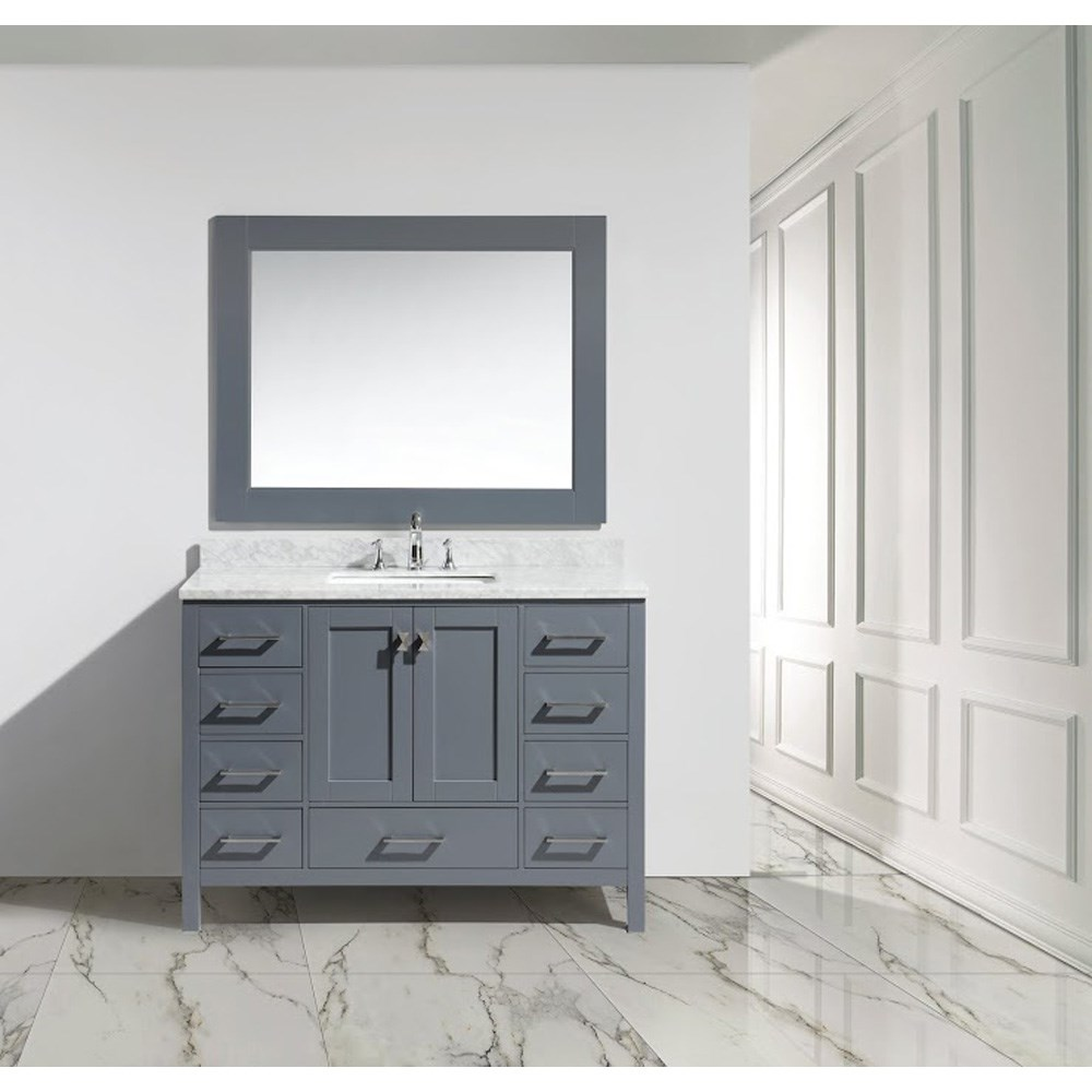 "Design Element London 48"" Single Sink Vanity Set - Graynohtin Sale $1399.00 SKU: DEC082C-G :"