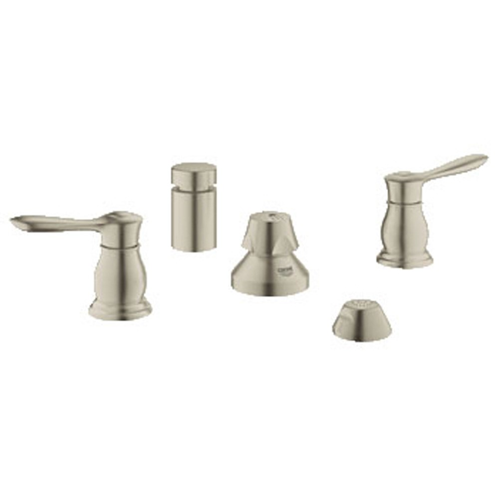 Grohe Parkfield 2-Handle Bidet Wideset - Brushed Nickel GRO 24033EN0