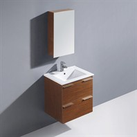 Vigo 24-inch Ophelia Single Bathroom Vanity with Medicine Cabinet - Wenge VG09036118K