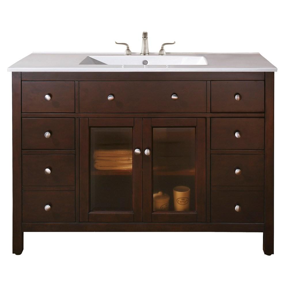 "Avanity Lexington 48"" Bathroom Vanity - Light Espressonohtin Sale $952.00 SKU: LEXINGTON-48-LE :"