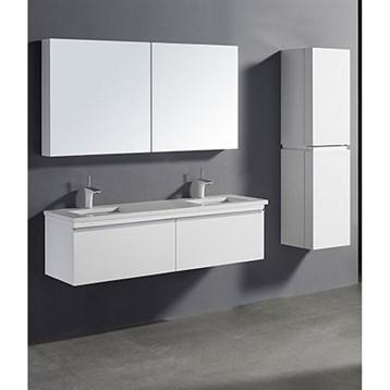 "Madeli Venasca 60"" Double Bathroom Vanity for Quartzstone Top, Glossy White B990-60D-002-GW-QUARTZ by Madeli"