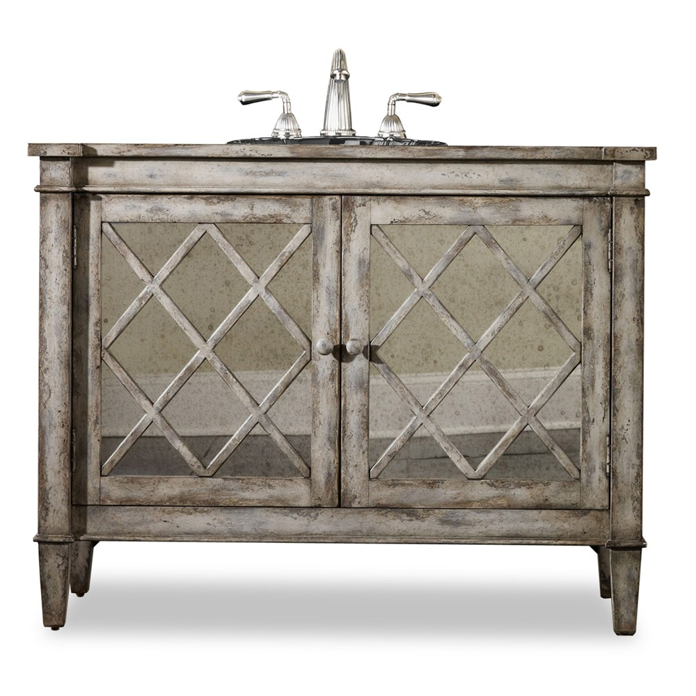 "Cole & Co. 44"" Designer Series Collection Kelley Sink Chest - Antiqued Parchment"