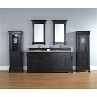 "James Martin 72"" Brookfield Double Cabinet Vanity - Antique Black 147-114-5731"