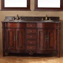 "James Martin 60"" Tuscany Double Granite Top Vanity - Cherry 206-001-5512"