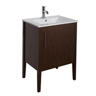 VIGO 24-inch Maxine Single Bathroom Vanity - Wenge VG09040118K1