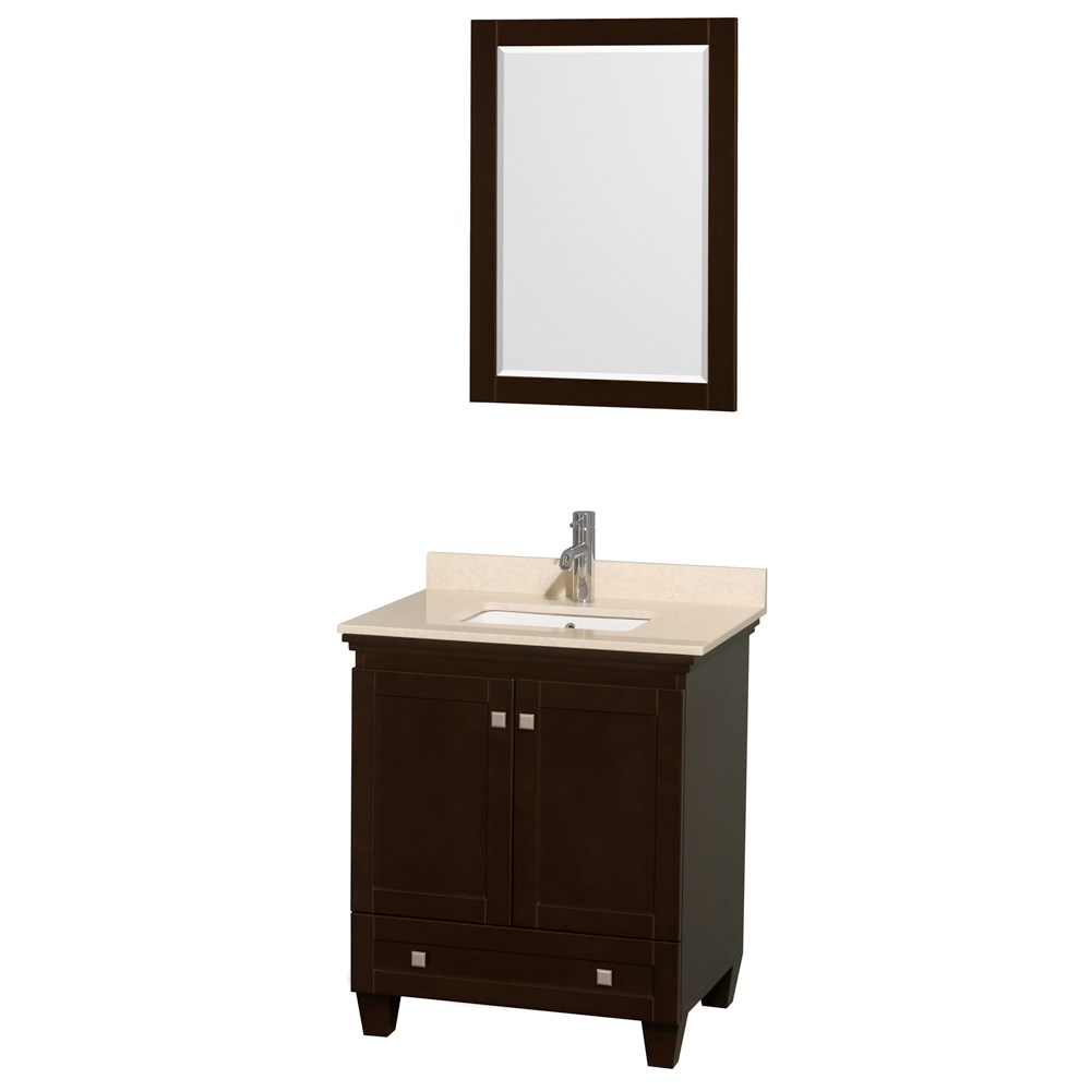 Acclaim 30 in. Single Bathroom Vanity by Wyndham Collection - Espresso WC-CG8000-30-SGL-VAN-ESP Sale $849.00 SKU: WC-CG8000-30-SGL-VAN-ESP :