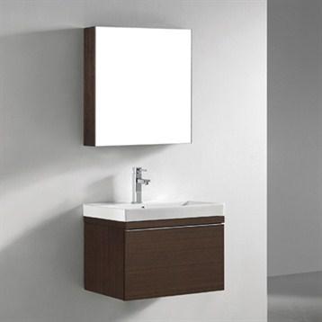 "Madeli Venasca 24"" Bathroom Vanity with Integrated Basin, Walnut B990-24-002-WA by Madeli"