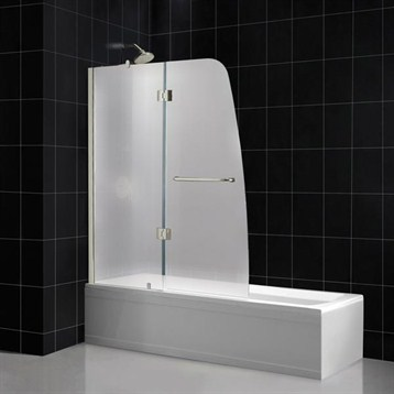 Bath Authority DreamLine Aqua Frosted Glass Tub Door | Free Shipping    Modern Bathroom