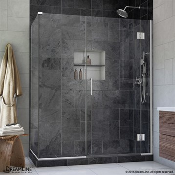 Bath Authority DreamLine UniDoor-X 35-1/2 in. W x 30-3/8, 34-3/8 in. D x 72 in. H Hinged Shower Enclosure E12306530 by Bath Authority DreamLine