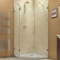 "Bath Authority DreamLine PrismLux Frameless Hinged Shower Enclosure (34-5/16"" by 34-5/16"") SHEN-2234340"