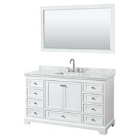 "Deborah 60"" Single Bathroom Vanity by Wyndham Collection - White WC-2020-60-SGL-VAN-WHT"