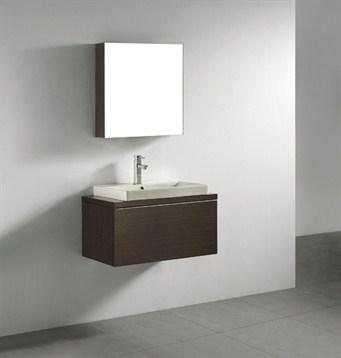 "Madeli Venasca 30"" Bathroom Vanity with Integrated Basin, Walnut B990-30-002-WA by Madeli"