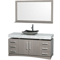 "Monterey 60"" Bathroom Vanity Set - Gray Oak CG6000-60-GROAK"