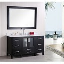 "Design Element Stanton 60"" Single Modern Bathroom Vanity - Espresso B60-DS"