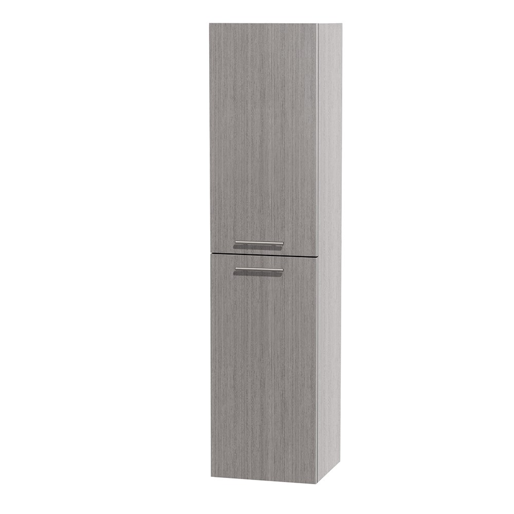 Bailey Wall Cabinet by Wyndham Collection - Gray Oaknohtin