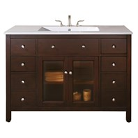 "Avanity Lexington 48"" Bathroom Vanity - Light Espresso LEXINGTON-48-LE"