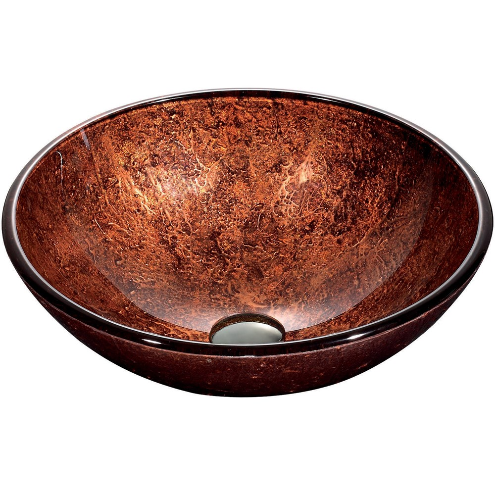VIGO Mahogany Moon Glass Vessel Bathroom Sinknohtin