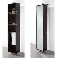 April Rotating Floor Cabinet with Mirror by Wyndham Collection - Espresso WC-V202-ESP