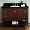 "Fairmont Designs Shaker Americana 48"" Vanity - Open Shelf for Quartz Top - Habana Cherry 1513-VH48"