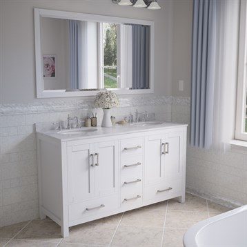 Sheffield 60 double bathroom vanity by wyndham collection for A c bathrooms sheffield