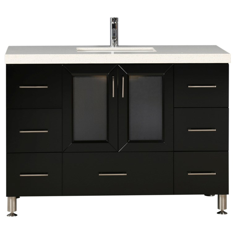 "Design Element Westfield 48"" Single Sink Vanity - Espresso WF-48"