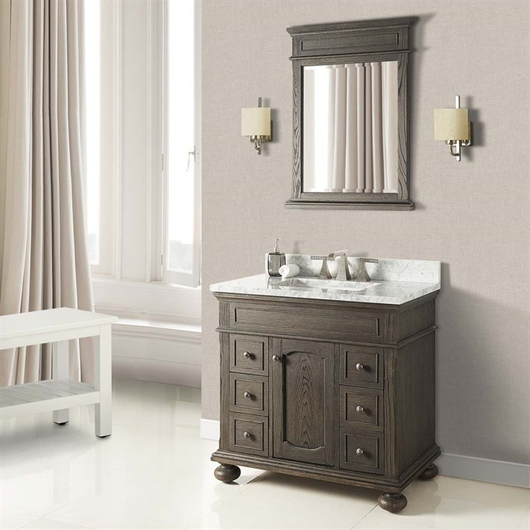 "Fairmont Designs Oakhurst 36"" Vanity for Integrated Top - Burnt Chocolate 1536-V36-"