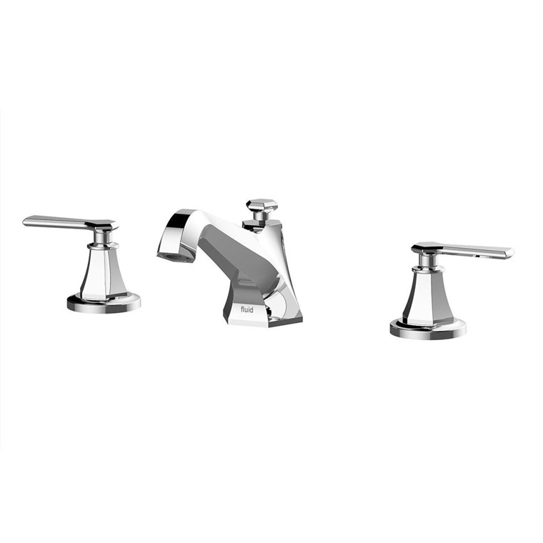 fluid Symmetry Dual Handle Widespread Deck-Mount Tub Filler Trim Set - Lever Handles F1712T-