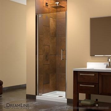 """Bath Authority DreamLine Elegance Frameless Pivot Shower Door and SlimLine Single Threshold Shower Base, 32"""" by... by Bath Authority DreamLine"""