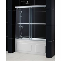 "Bath Authority DreamLine Charisma Frameless Bypass Sliding Tub Door and QWALL-Tub Backwalls Kit (56"" to 60"") DL-6997"