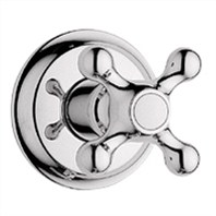 Grohe Seabury Trim Volume Control with Cross Handle - Sterling Infinity Finish