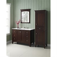 "Fairmont Designs Shaker Americana 48"" Vanity for Integrated Top - Habana Cherry 1513-V48-"