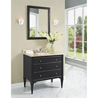 "Fairmont Designs Charlottesville 36"" Vanity for Undermount Oval Sink - Vintage Black 1511-V36_"