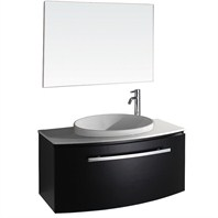 "Allura 40"" Modern Bathroom Vanity Set by Wyndham Collection - Espresso WC-V18029-39-ESP"