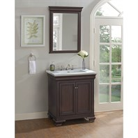 "Fairmont Designs Providence 30"" Vanity For Integrated Top - Aged Chocolate 1529-V30-"