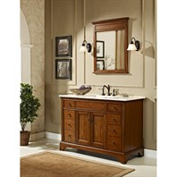 "Fairmont Designs 48"" Framingham Vanity with Integrated Sink Option - Vintage Maple 1501-V48-"