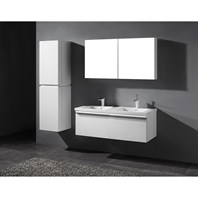 "Madeli Venasca 48"" Double Bathroom Vanity for X-Stone Top - Glossy White B990-48D-002-GW-XSTONE"