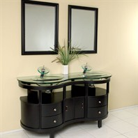 Fresca Unico Espresso Modern Bathroom Vanity with Mirrors FVN3331ES
