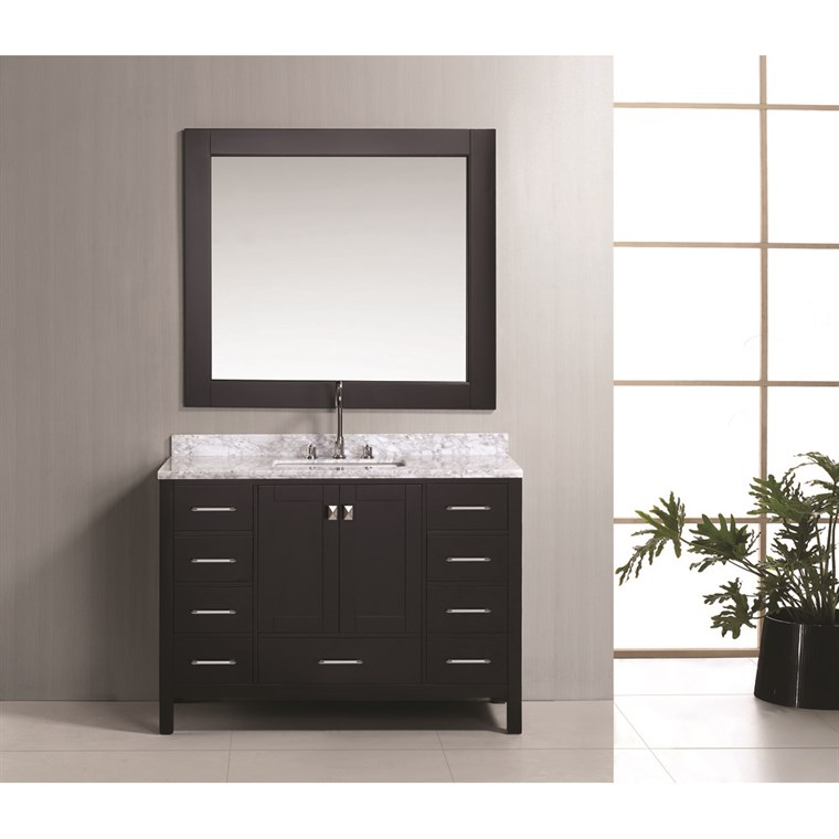 "Design Element London 48"" Vanity Set - Espresso DEC082C"