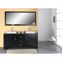 "Virtu USA Tavian 72"" - Double Sink Bathroom Vanity - Espresso MD-7072-ES"