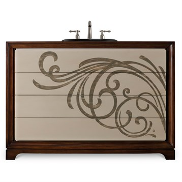 """Cole & Co. 48"""" Designer Series Delaney Vanity Chest, Deep Cherry 11.22.275548.07 by Cole & Co."""