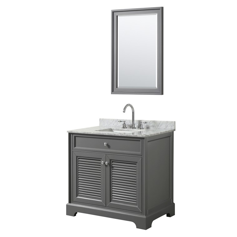 "Tamara 36"" Single Bathroom Vanity by Wyndham Collection - Dark Gray WC-2121-36-SGL-VAN-DKG"